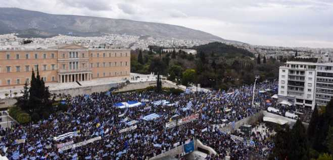 Drone footage disproves police claims of 60,000 at Macedonia rally