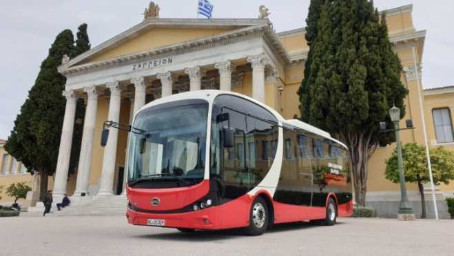 Athens' first electric bus presented