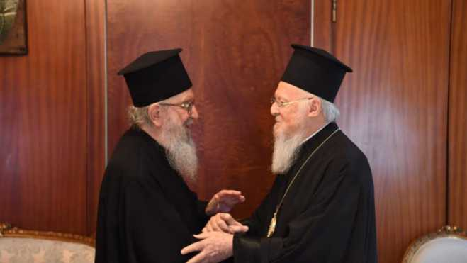 Archbishop Demetrios of America tenders his resignation to Ecumenical Patriarch Bartholomew