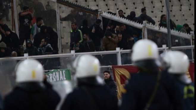 Eight arrests for clashes during PAO-Olympiakos match