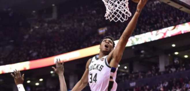 "Giannis Antetokounmpo posts ""monster"" stats against Wizards (video)"