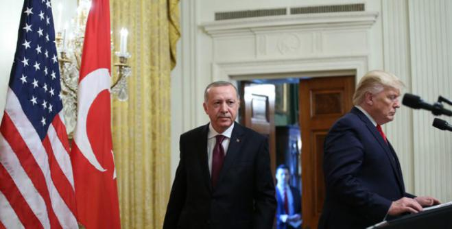 """Tightrope"" acrobat Erdogan rails against Macron in the presence of Trump with many aims…"