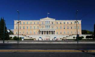 Group of unknown people attack Greek Parliament