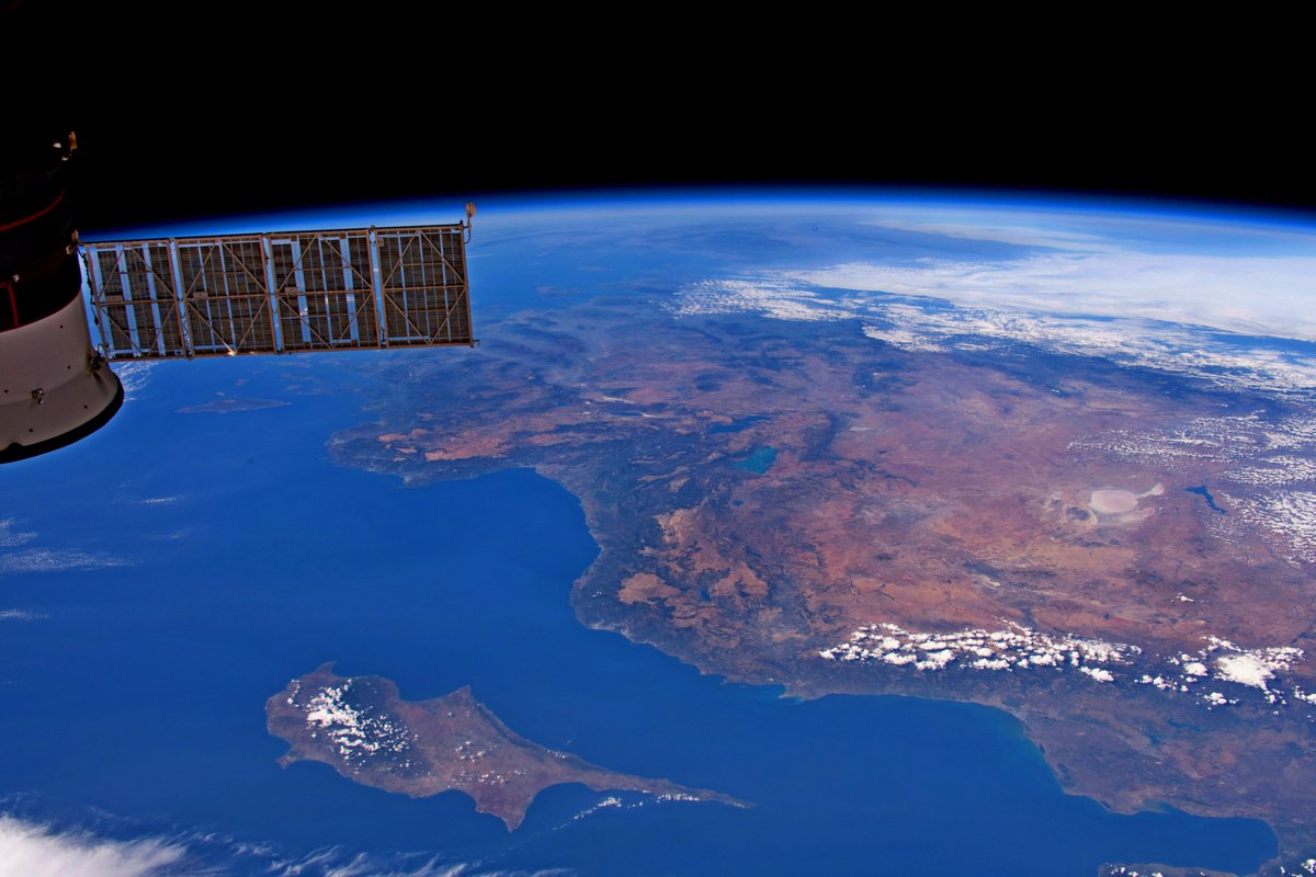 Impressive satellite images of Cyprus by a NASA astronaut