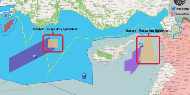 Turkey issues NAVTEX for live fire drills with Russia off Cyprus and on edge of Greek EEZ
