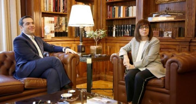The Greek people's prosperity a common goal, President Sakellaropoulou says in meeting with Tsipras