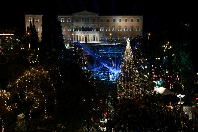 Christmas decor at Syntagma Square uplifts Athenians