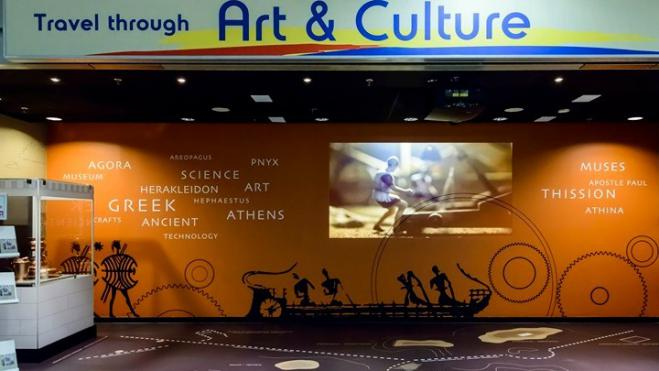 """West of Athens"" showing travelers at Athens International Airport a slice of the capital's history"