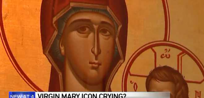 Worshippers say image of weeping Virgin Mary at Chicago church is a miracle