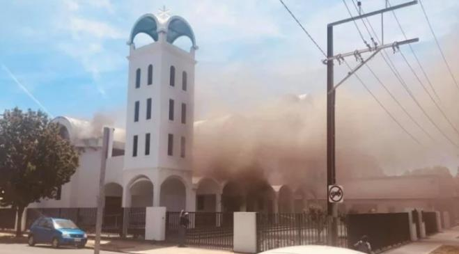 Greek church ablaze in Adelaide, on Agios Nikolaos day