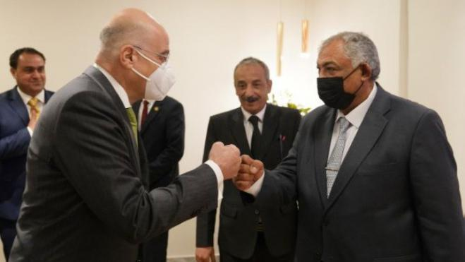 FM Dendias to Libyan Deputy PM Al-Qatrani: 'Thank you for your direct stance on the illegal memorandum with Turkey'
