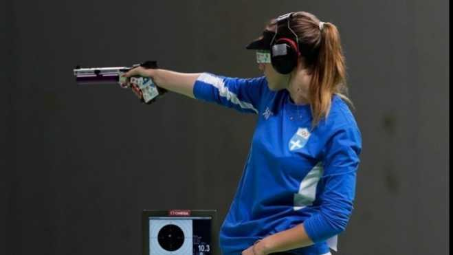 Anna Korakaki wins gold in 25m pistol in European Games in Minsk
