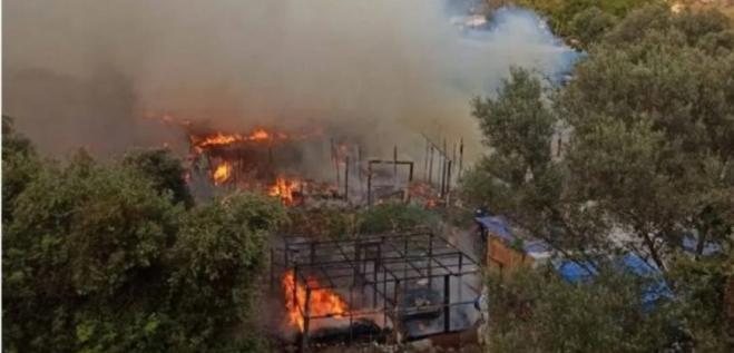 Eight asylum applicants arrested on Samos on charges of violence and arson