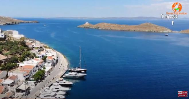 The legendary achievement of Lambros Katsonis in the beautiful bay of Agios Nikolaos in Tzia (vid)