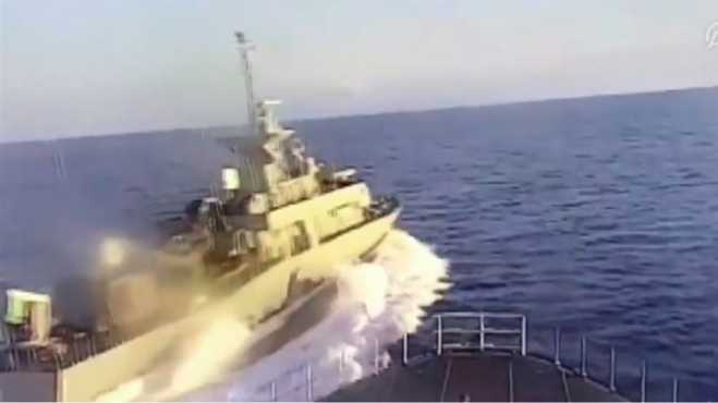 Anadolu Agency: Greek FAC harassed Turkish corvette (video)