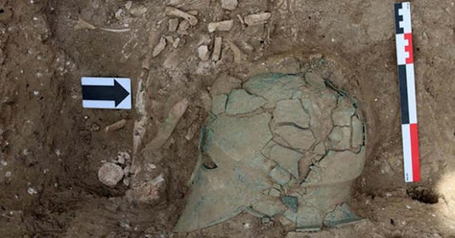 First Greek helmet discovered north of the Black Sea in Russia