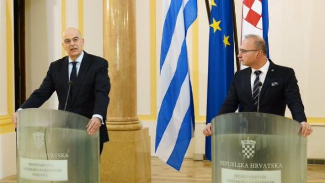 "Dendias in Zagreb: ""We firmly support Croatia's entry to the Schengen area, the Eurozone and the OECD"""