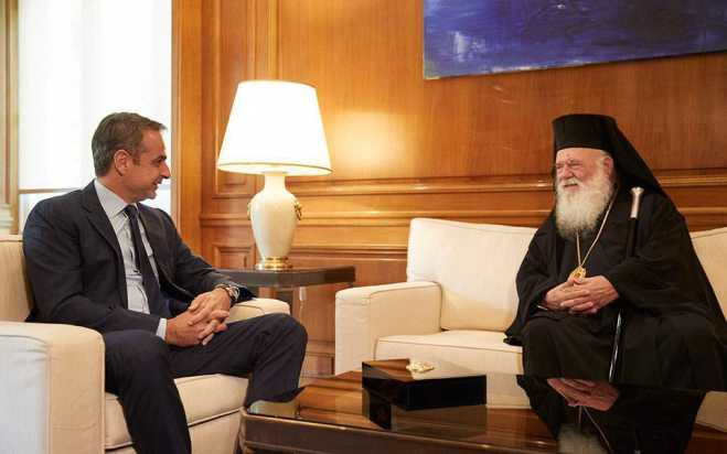 Mitsotakis to meet Archbishop at Maximos Mansion