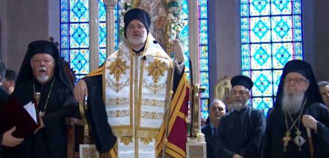 The Archbishop of America Elpidoforos was enthroned in New York (vid)