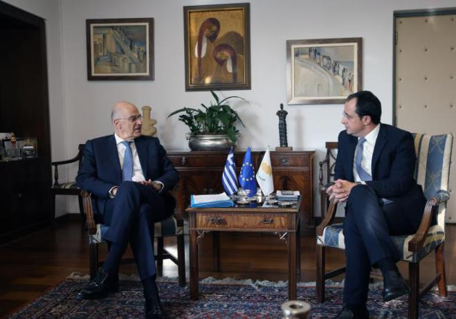 "Aim of meeting with Greek FM to decide on ""specific moves"" in immediate future, Cypriot FM says"