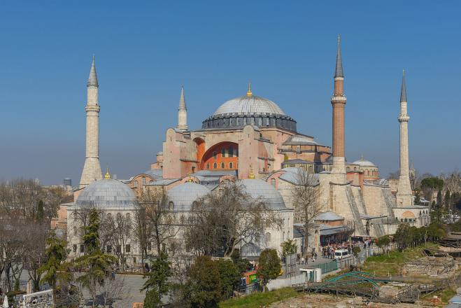 "Chief Muslim cleric in Turkey calls for prayer in the Hagia Sophia to appease the ""evil"" after Covid-19 measures are lifted"