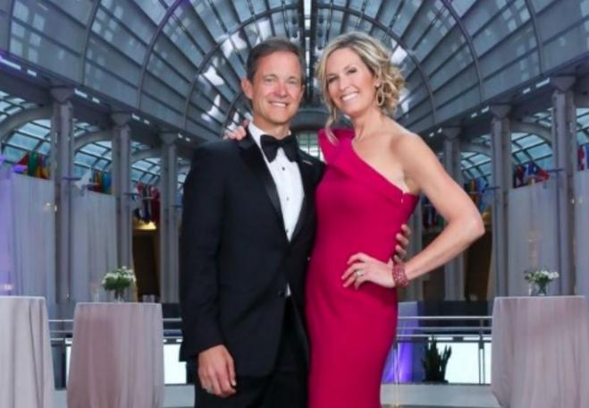 "Mike Manatos and wife Laura Evans on Washington Life magazine's ""Philanthropic 50"" in 2020"