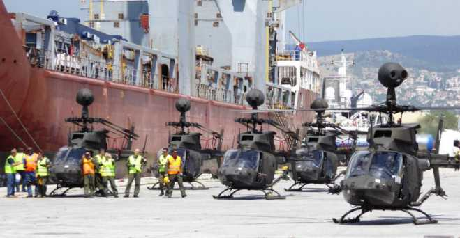 The OH-58D Kiowa Warrior helicopters of the Hellenic Army Aviation arrived