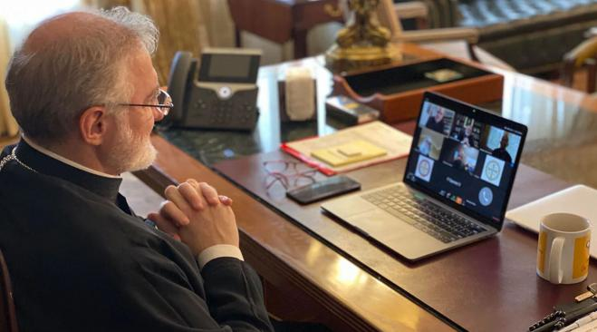 Archbishop Elpidophoros holds virtual town hall on coronavirus pandemic