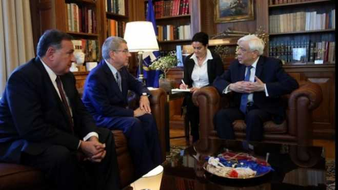 President Pavlopoulos receives IOC President Bach