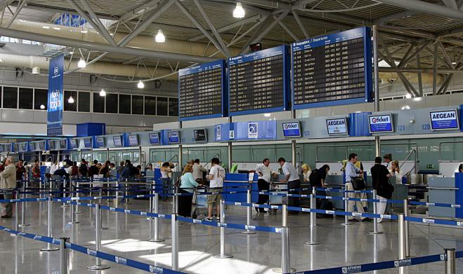 Only 9 flights arrive at Athens International Airport El. Venizelos over long weekend