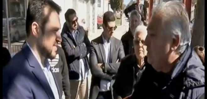 "Minister Nikos Pappas told ""You betrayed Macedonia"" by senior citizen"