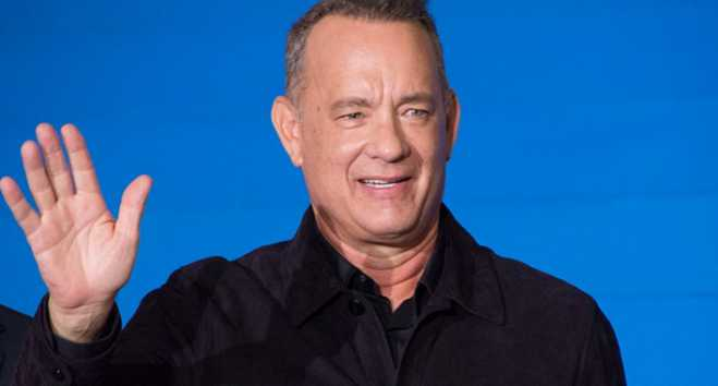 "Tom Hanks celebrates 63rd birthday with a ""dive"" in the Aegean Sea"