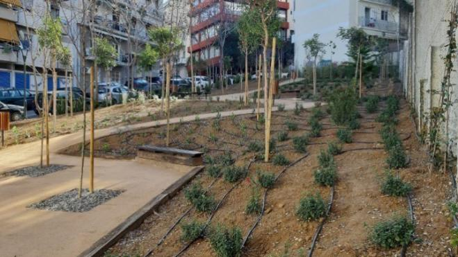 "Athens gets third ""Pocket Park"" in an abandoned plot of Pangrati"