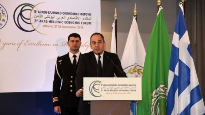 Development of Greece's ten largest ports to begin in 2020, Shipping Min Plakiotakis tells Arab-Hellenic forum