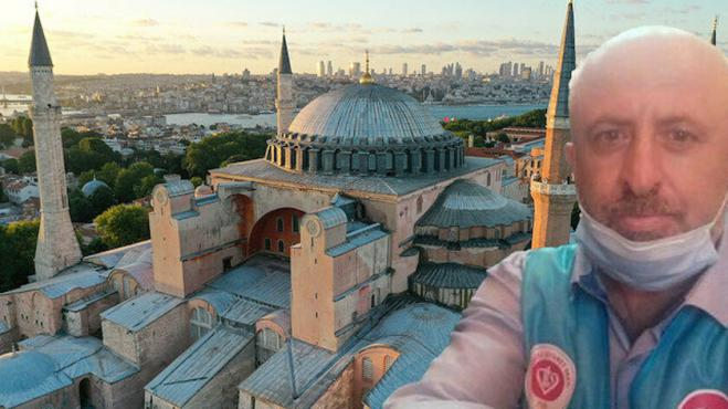 Death of a muezzin in Hagia Sophia causes shock in Turkey