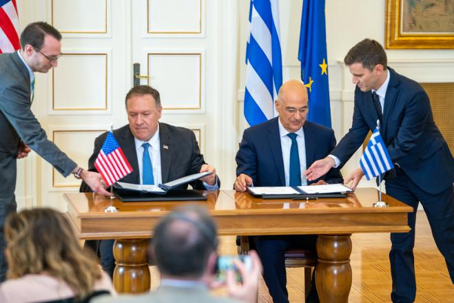 Pompeo expresses US support for Greek positions in a letter to FM Dendias