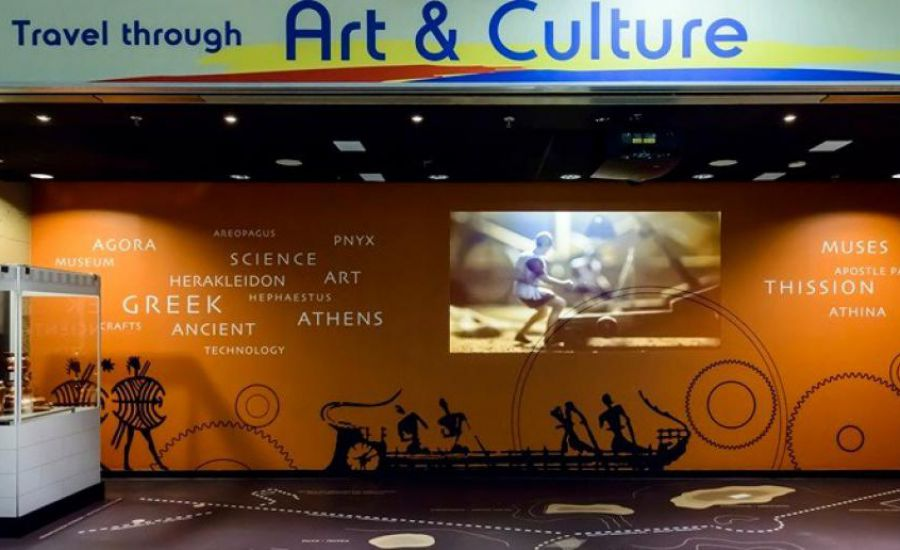 """""""West of Athens"""" showing travelers at Athens International Airport a slice of the capital's history"""
