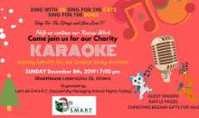 Let's be S.M.A.R.T. animal welfare org invites all to Charity KARAOKE Event